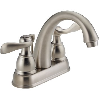 Lavatory Faucet, Two Handle ~ Stainless Steel Finish
