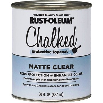 Chalked Protective Topcoat ~ Clear Matte