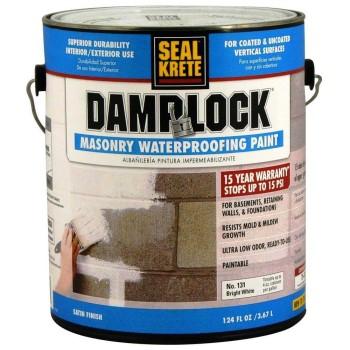 Cp/seal Krete 101001 Damplock Masonry Waterproofing Paint, Bright White ~ Gallon