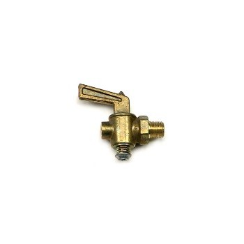 Lever Handle Drain Cock - Brass - 1/8 inch
