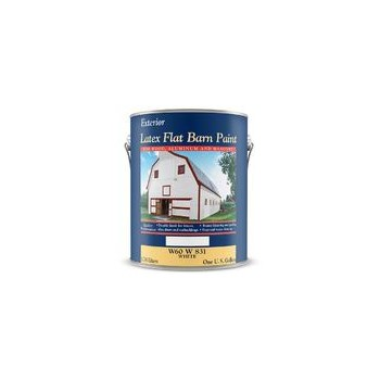CBD Group Paint W60W00831-16 Barn Paint, Flat Latex White ~ Gallon