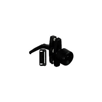 Satin Black  Knob Latch, Visual Pack 1307