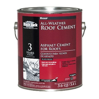 Gardner-Gibson/Black Jack 6230-9-34 Plastic Roof Cement  ~ Gallon (3.6 Qts)