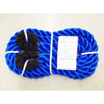 "Triple S Rope  TS-25LL20 Polypropylene Loop x Loop Tow Rope,  25,000 Lb ~ 1 1/4"" x 20 Ft."