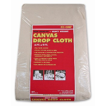 Canvas Drop Cloth, Heavy Weight 6 x 9 Foot