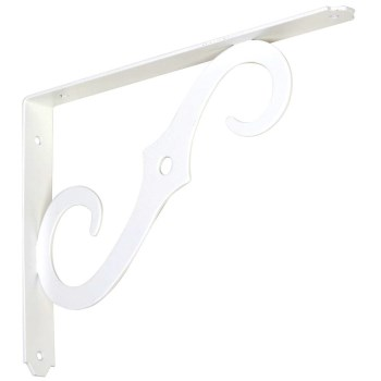 White Ornamental Selff Bracket, 152 bc 10 x 7 Inches