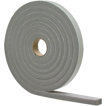"High Density Foam Tape, Gray ~ 1/4"" x 1/2"" x 17 ft"