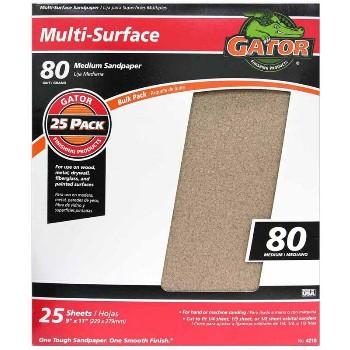 Ali Industries 4210 Sandpaper, Aluminum Oxide ~ 80 grit