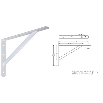 White Shelf Bracket, 111 bc 12 inches