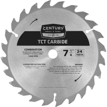 Carbide Tip Circular 24t Saw Blades ~ 7 1/4""