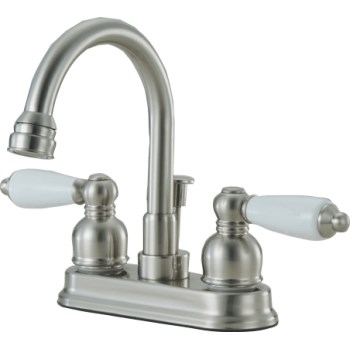 Lavatory & Bar Faucet, 2 Handle ~  Satin Nickel
