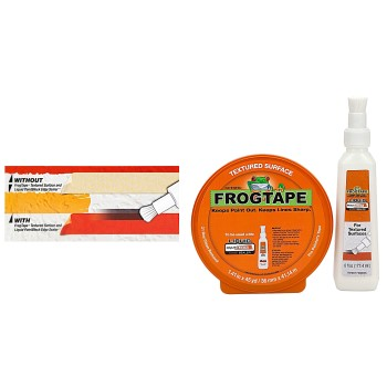 FrogTape Textured Surface Liquid Sealer & Tape