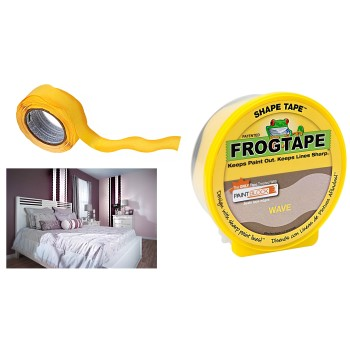 "FrogTape Shape Tape,  Wave Design ~ 1.88"" x 25 Yrs"