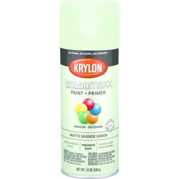 Krylon K05552007 5552 Sp Matte Sesd Green Paint