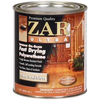 ZAR  Zar Ultra Polyurethane Clear Wood Finish, Semi-Gloss ~ Quart