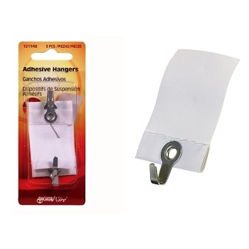 Adhesive Wall Hanger, 1.5 lb load limit