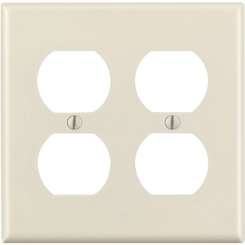 Duplex Receptacle Wall Plate ~ Light Almond