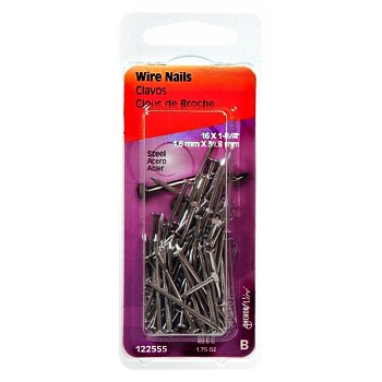 Wire Nails,  16 Gauge  ~  1.25 inch