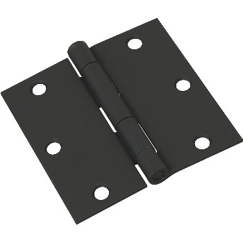 Square Door Hinge,  Black ~ 3 1/2""