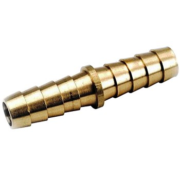 Lead-Free Barb x Barb Hose Connector ~ 3/8""