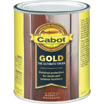 Gold Ultimate Finish Stain, Mahogany ~ Quart