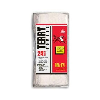 Terry Towels, 24 pack ~ White