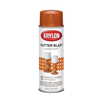 Glitter Blast Spray Paint,  Orange Burst ~ 5.7 5oz