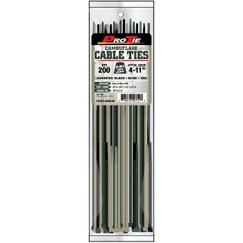 Cable Ties ~ Camo, 200 Pieces