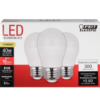 LED Bulbs, Non Dimmable 300 Lumens ~ 40W