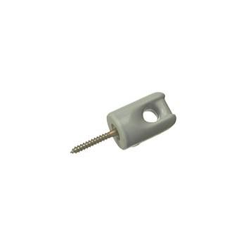"""Halex  60416 Light Duty Porcelain Wireholder, 1-11/16"""""""