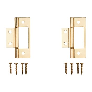Non-Removable Pin Surface Mount #530 Hinge,  Matte Brass Finish ~ 3""
