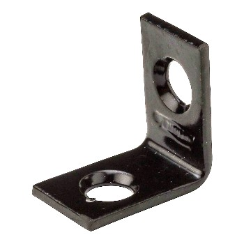 "Corner Brace,  Black Finish ~ 3/4"" x 1/2"""