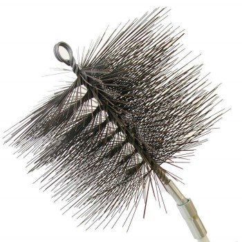 Chimney Sweep Round Wire Cleaning Brush ~ 8""