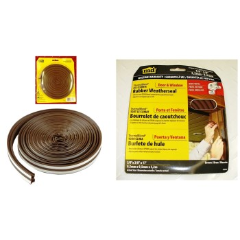 "All-Climate ThermaBlend Weatherstrip, Brown ~ 3/8"" x 17 Ft"