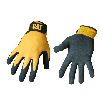 Cat Branded Nitrile Coated Gloves ~ Large