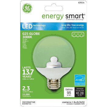LED Energy Smart G25 Globe Light Bulb - 2.3 watt/15 watt ~ Bright White