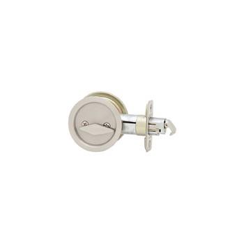 Kwikset 93350-003 Round Pocket Door Lock/Privacy, Satin Nickel Finish