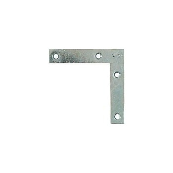 Zinc Flat Corner Brace, Visual Pack 117 4 x 3/4 inches
