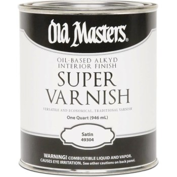 Old Masters 49304 Super Varnish, Clear Satin Finish ~ Quart