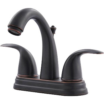 Two Handle Lavatory Faucet - Classic Bronze