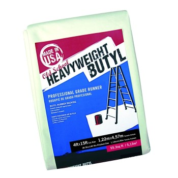 Drop Cloth, Heavyweight Butyl ~ 4 ft x 15 ft