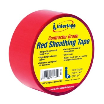 "Contractor Grade Sheathing Tape, Red ~ 1.87"" x 55 yds"