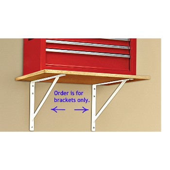 "Shelving  Bracket, White Max  ~ 19.25"" x 12.5"""
