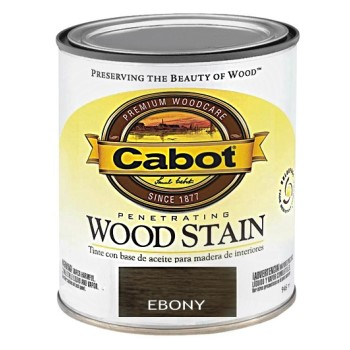 Cabot  Wood Stain - Ebony - 1/2 pint