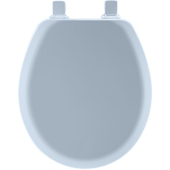 Toilet Seat, Round Molded Wood ~ Sky Blue