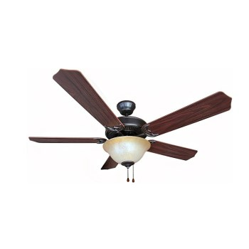 5 Blade Dover Series Match Ceiling Fan,  Walnut ~ 52""