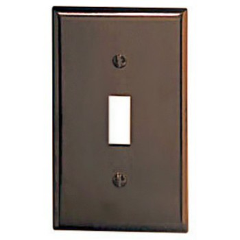 Single Switch Plate - Brown