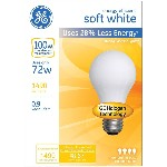 Energy Efficient Halogen Bulb - 72 watt/100 watt ~ Soft White