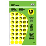 Garage Sale Yellow Price Labels ~ 3/4""