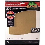 Multi Surface Sandpaper, 220 Grit ~ 9 x 11 inches
